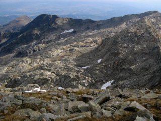 Testata del Vallone Burdeiver, dalla Costa Bordevolo (dx) al Monte Lion (sx)