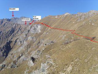 01 - Il percorso panoramico verso l'Ambin sulla costa del Toasso Bianco