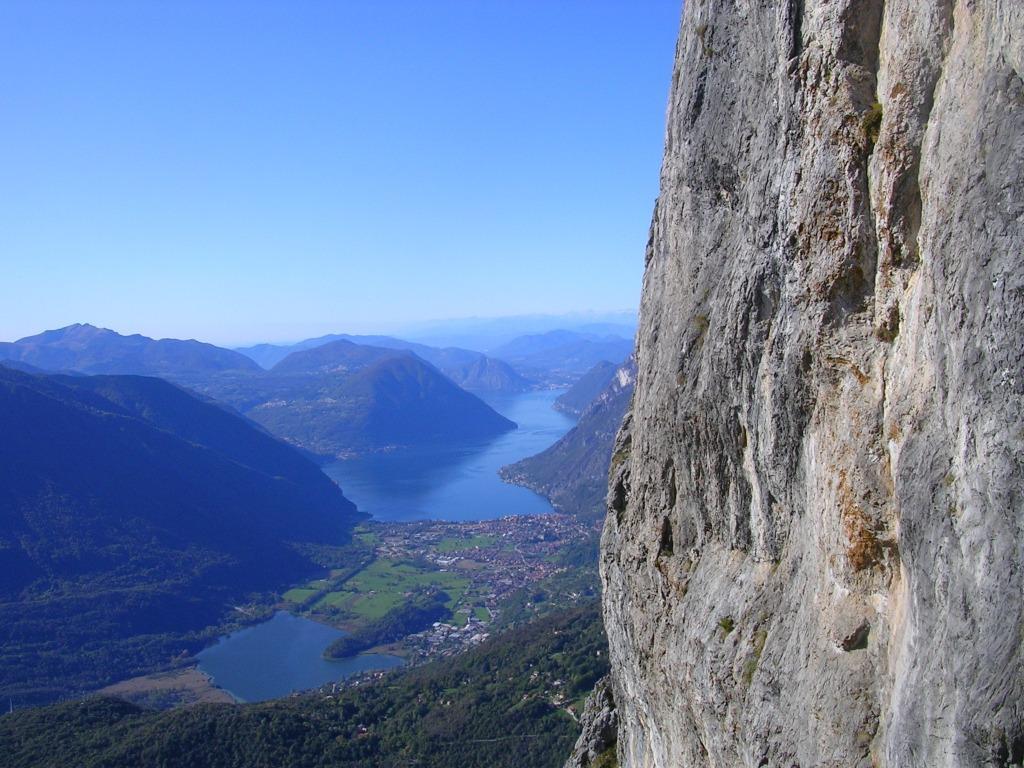 Il lago di Lugano visto dalla ferrata