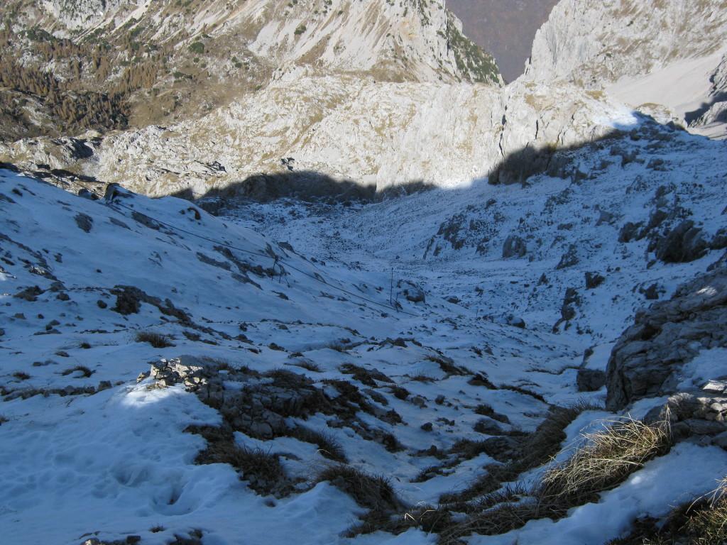 La discesa ghiacciata