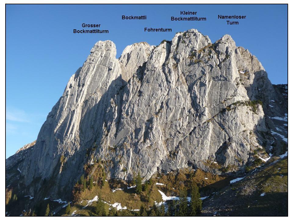 Grosser Bockmattliturm 1835 m Direkte Nordwand, via Niedermann-Diener 2009-10-29
