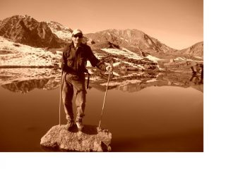 In posa al Lago del Vallone