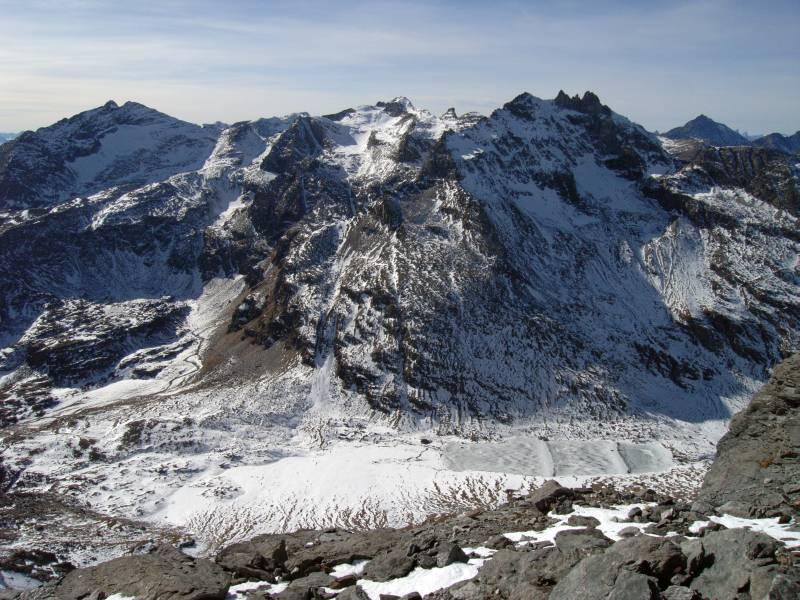 Lago di Savine, Col Clapier, sfondo Niblè-Ambin