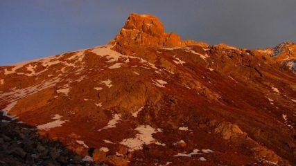 luci del tramonto sul Brec de Chambeyron (31-10-2009)