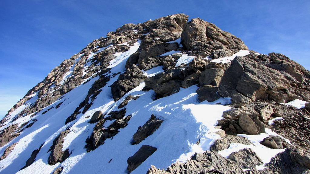 la cresta Ovest e la vetta della Tete de l'Homme (1-11-2009)