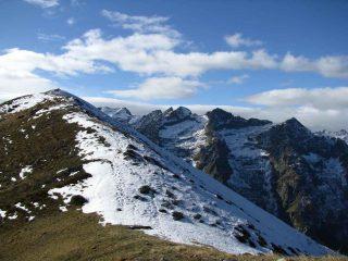 arrivo al colle tra Pianard e la Rocca