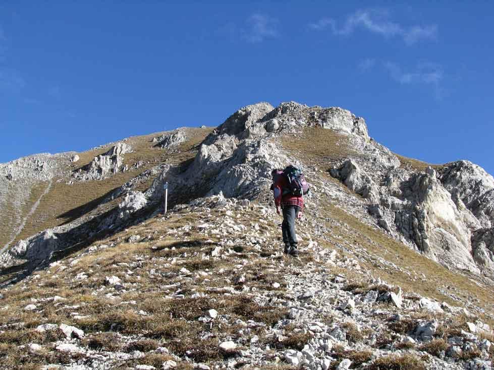 verso la Rocca d'Orel