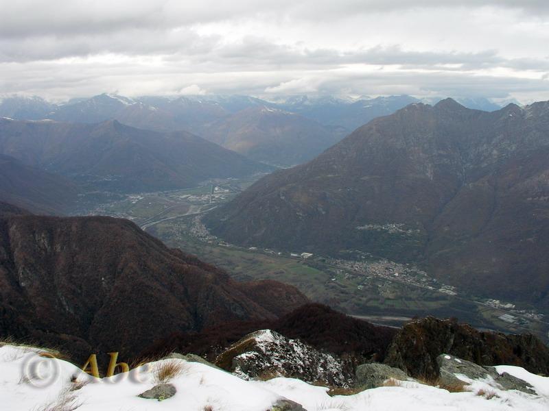 Vista verso la val d'Ossola