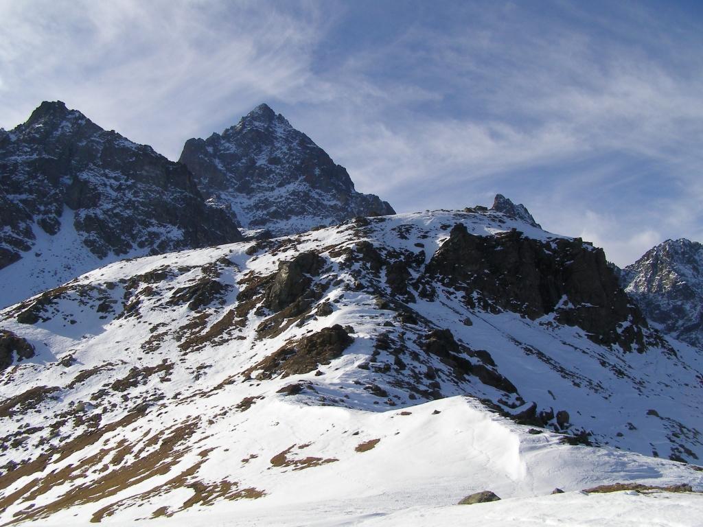 Il Ghincia Pastour dal monte Granè, salita dalla breve cresta