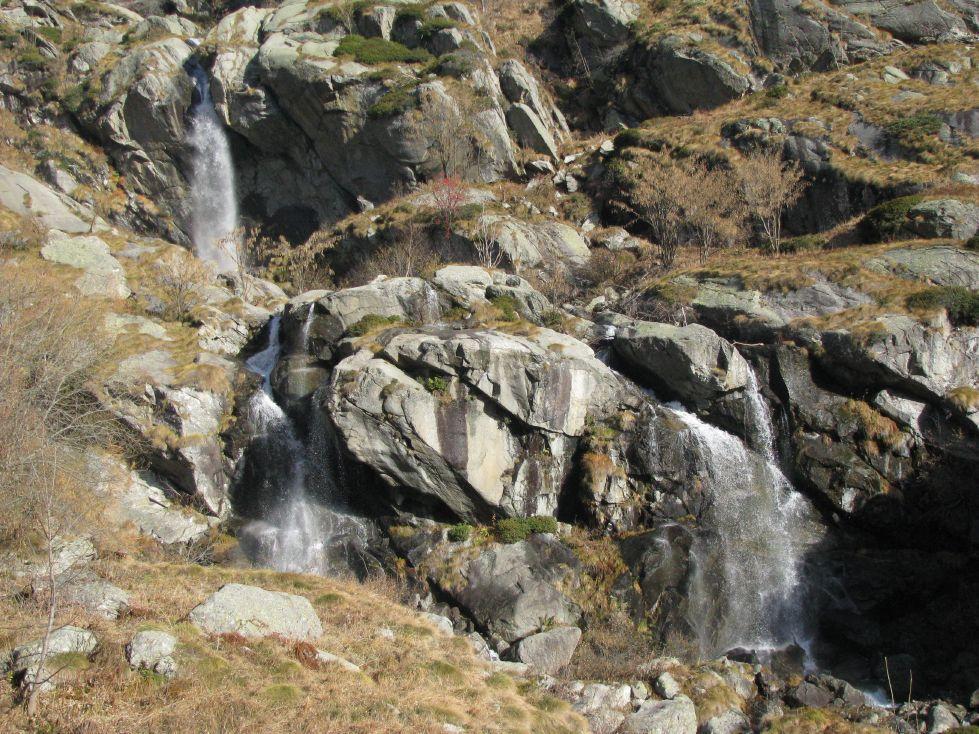 Le cascate del Rio Eugio ai Pis