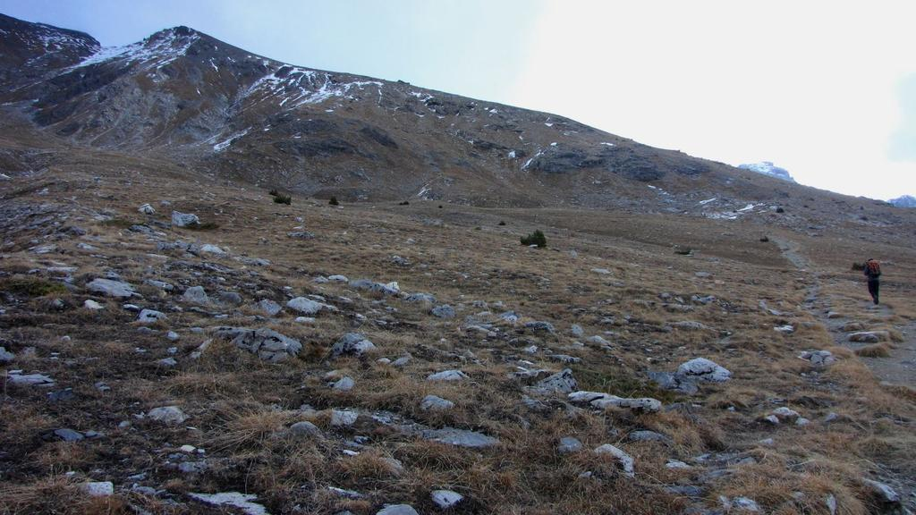 in alto si vede la vetta del Bec Roux (22-11-2009)