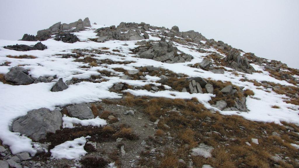 ultimi metri di cresta prima di raggiungere la vetta (22-11-2009)