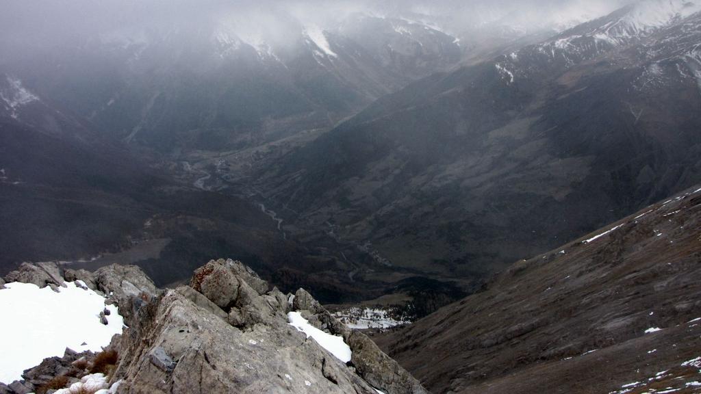 il Vallone che da Saimt Paul sale a Fouillouse visto dalla cima (22-11-2009)