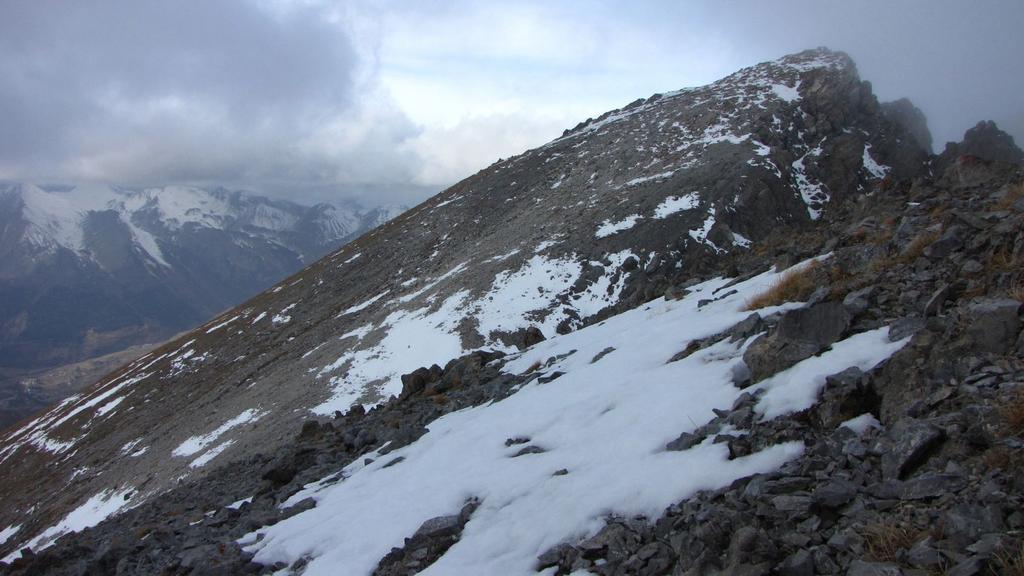 la vetta del Bec Roux vista dall'anticima (22-11-2009)