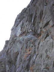 Il tratto mediano della parete dove si sviluppa Naufragio di Sea