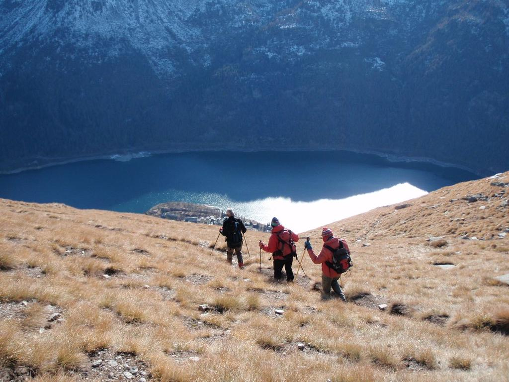 Nel canale Rocciabò con il lago sottostante di Ceresole