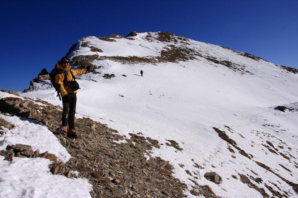 Stelvio nell'ultimo tratto di cresta del Giordano (28-11-2009)