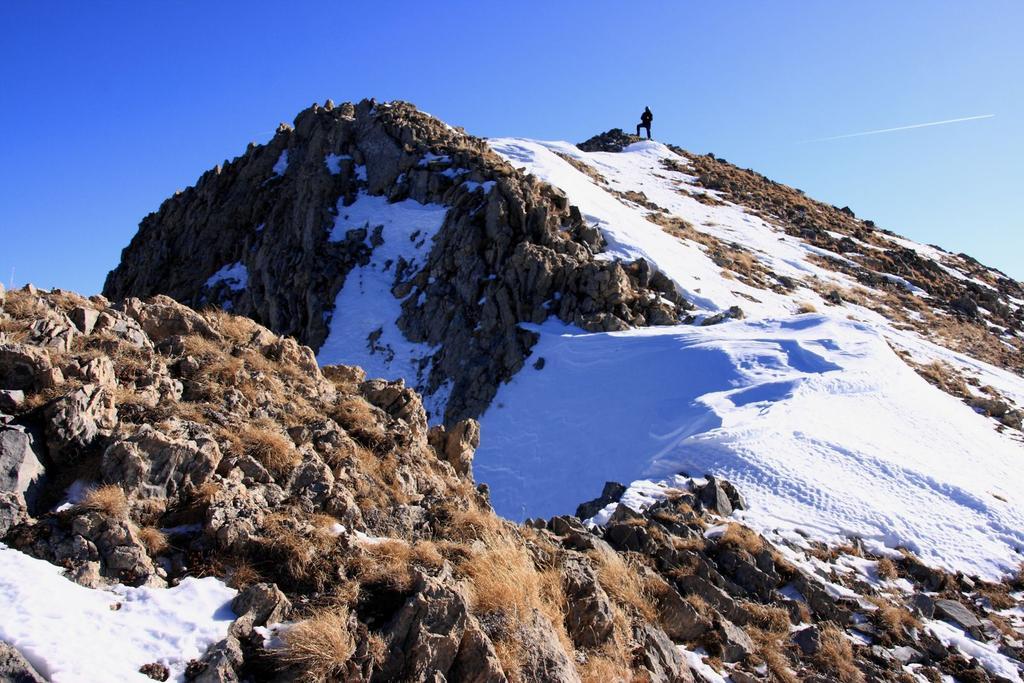 Davide è arrivato in vetta al Monte Giordano (28-11-2009)