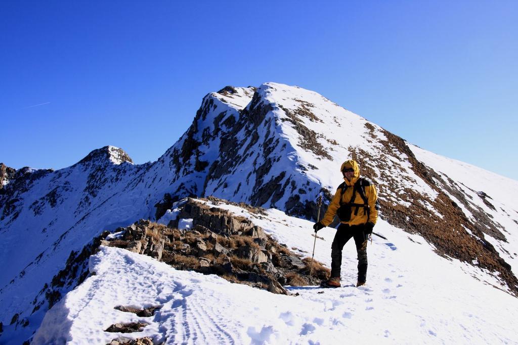 Stelvio nella parte alta della cresta NO del Monte Giordano (28-11-2009)