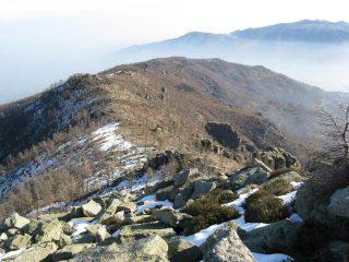 La cresta di salita vista dal Castel Oddino