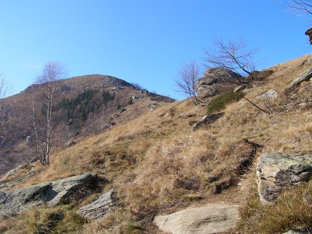 Monte Servin dai pressi del Colle Vaccera