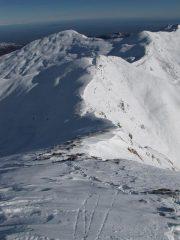 la cresta NE vista dall'alto