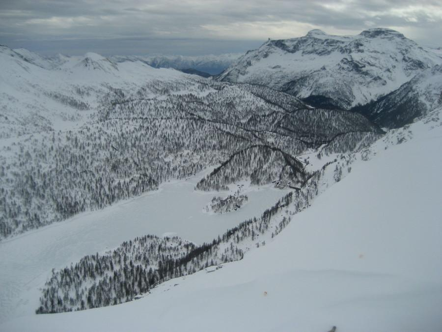 vista del lago del Devero dalla cima del Pizzo di Ton