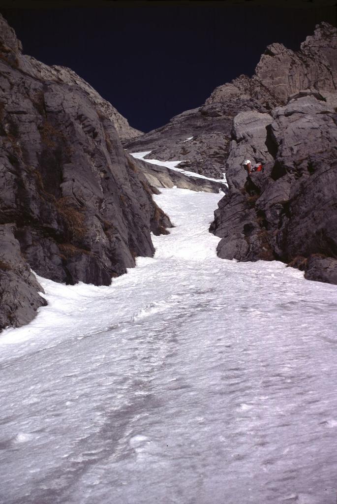 l'inizio del canale delle Colme (19-1-2003)