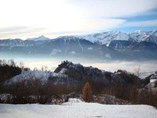 Nebbie in Valle Stura dal Colle di Ferriere