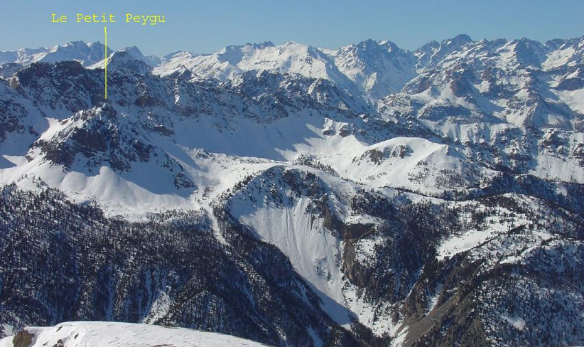 Versante est del Petit Peygu
