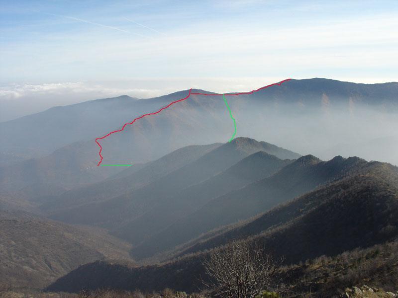Il Turu e il Druina - rosso salita, verde discesa