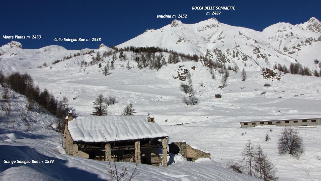 Grange Soleglio Bue e versante di salita (27-12-2009)