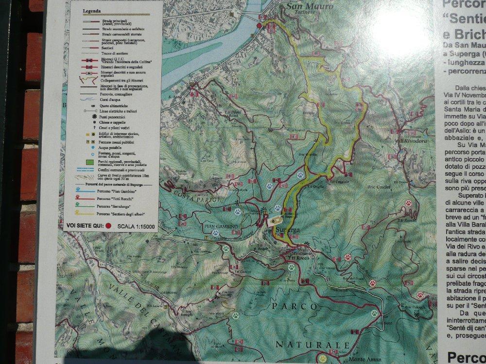 Mappa percorso, circa