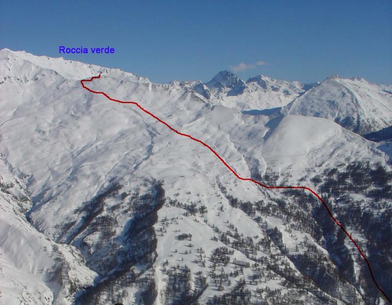 Verde (Roccia) da Bardonecchia e le Grange Chaffaux 2007-12-18