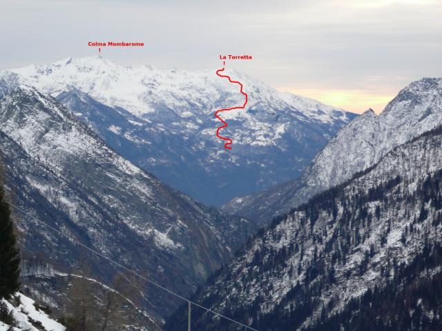 La Torretta da Mon Blanc - Champorcher percorso
