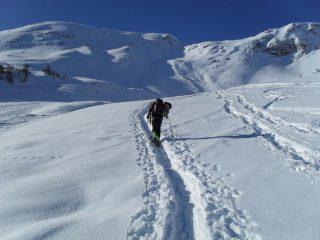 in salita dopo l'alpe Tsa di Chaligne