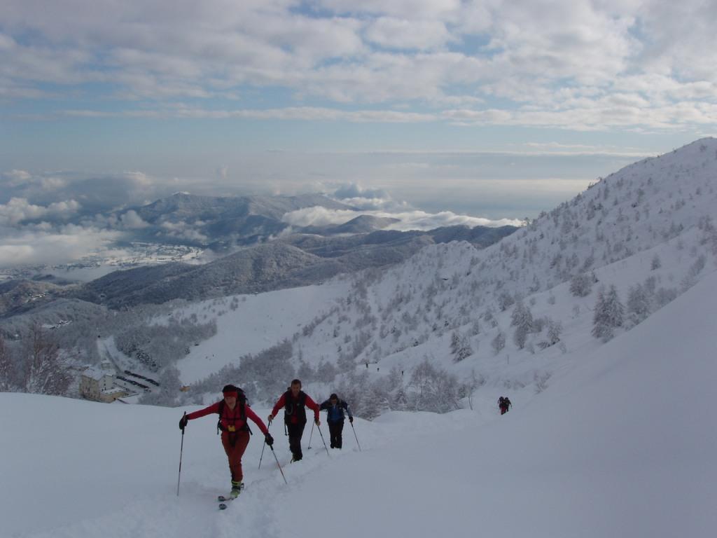 Paesaggio invernale poco dopo la partenza