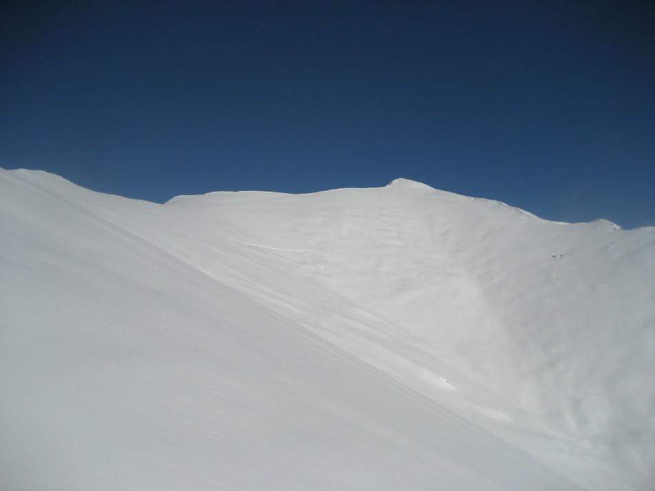 vista dell'itinerario dal Ventolaro