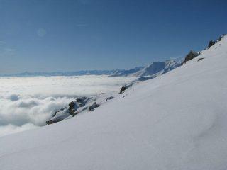 Il mare di nebbie, ed il Monviso