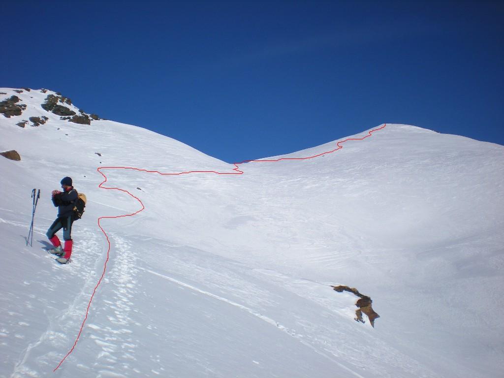 Bocon Damon o Punta Giasset da Mont Blanc, anello 2010-01-16