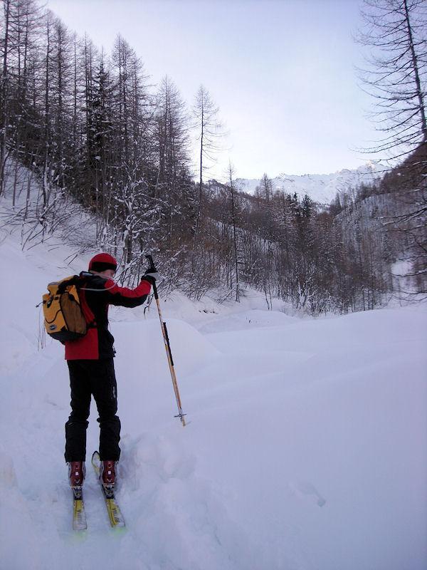 alla partenza un sacco di neve!!!