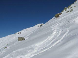 La crece della punta Nord, vista dalla cresta