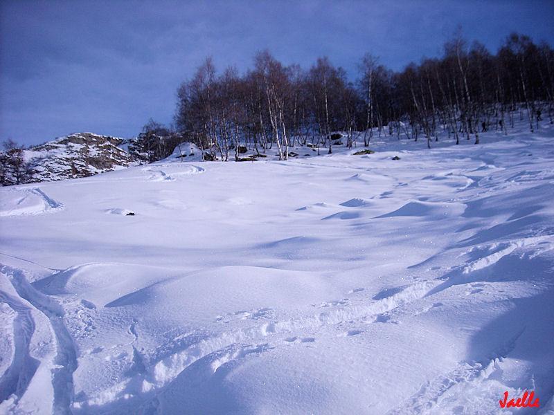salendo....che brutta neve!:P
