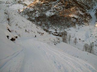 la strada all'ltezza della borgata Ceresarea