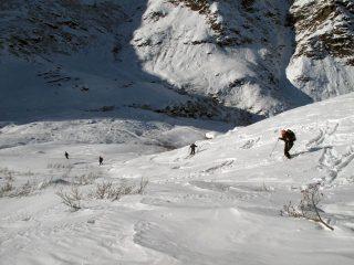 Scendendo verso l'alpe Sella