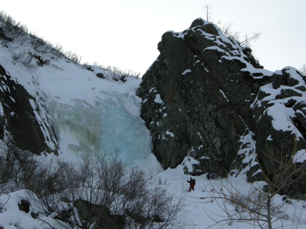 veduta della cascata centrale