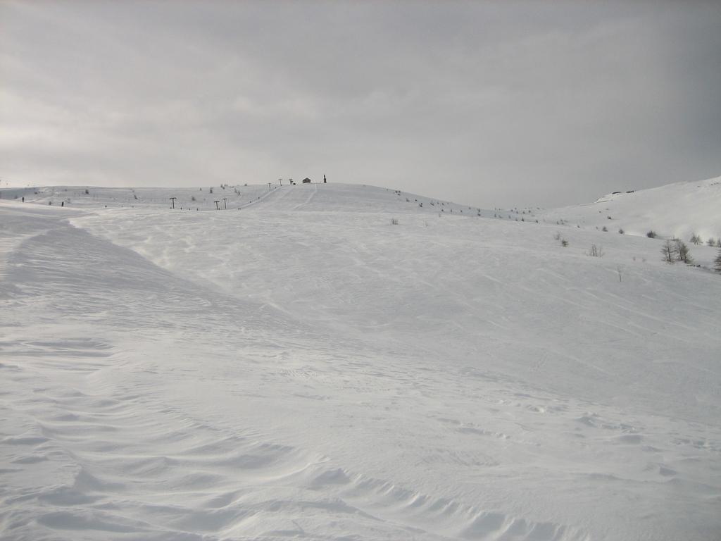 La pista del Plateau e il Redentore.