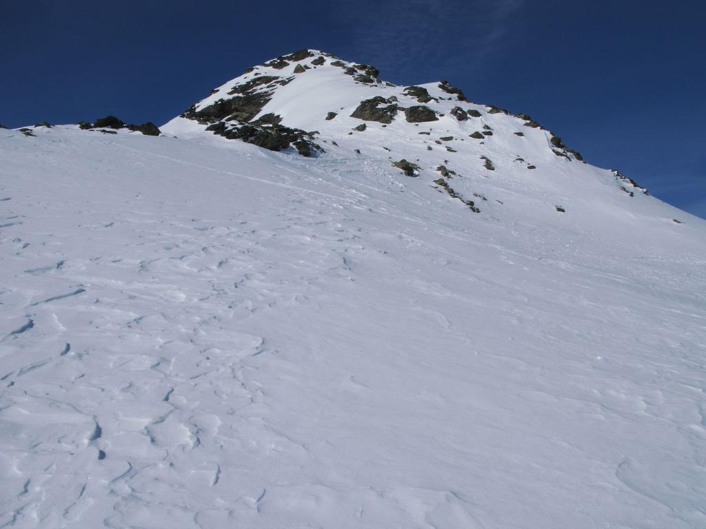 la cresta finale e la vetta...ormai ad un passo ! (21-2-2009)
