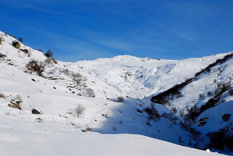 la cima del Bram con buona parte della salita