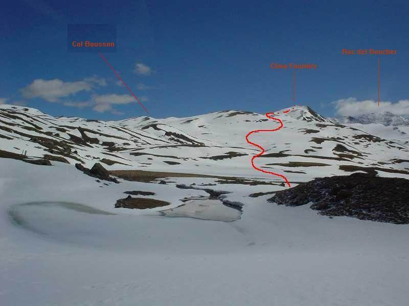il percorso di salita dal lago q.2025